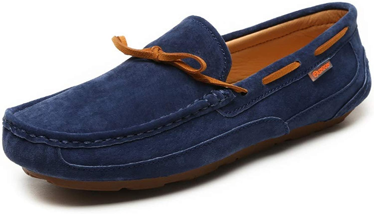 Men's Classic Original Suede Leather Penny Loafers Comfort Low Cut shoes Driving shoes Slip-on Flats Moccasin Slippers