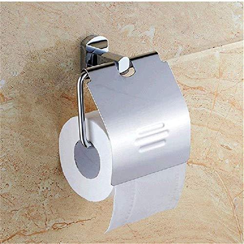 YLLAND Soporte para toallas de baño de acero inoxidable, soporte para inodoro o baño, decoración del hogar para el hogar servilleteros (color: plata, tamaño: 13 x 12 cm)