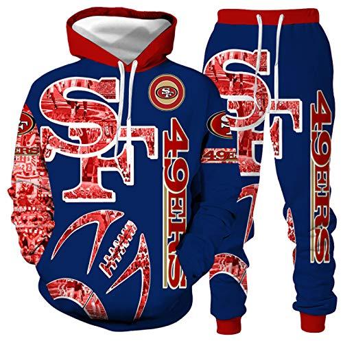 DREAMING-Camiseta de manga larga de primavera y otoño con estampado 3D Pullover Top casual con capucha + pantalones con cordón traje deportivo de 2 piezas para pareja 5XL