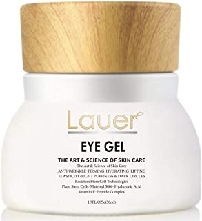 Lauer Eye Cream For Dark Circles and Puffiness - Anti Aging Wrinkle Remover Eye Gel - Under Eyes Treatment for Men and Women