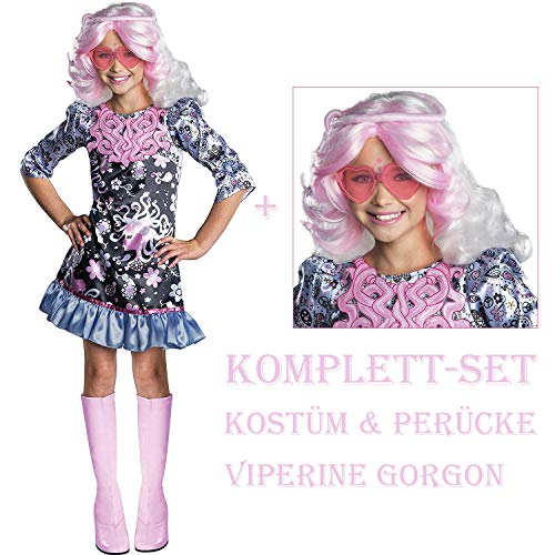 Satief Monster High Kinder Kostüm & Perücke / Viperine Gorgon (140/146 + Perücke)