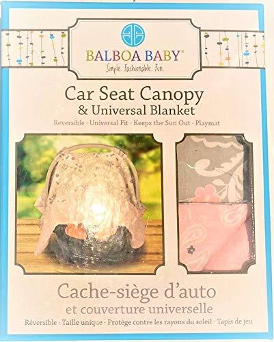 Balboa Baby Car Seat Canopy & Universal Blanket - Grey Paisley 1 pc