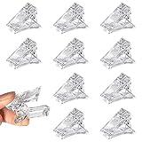 Clip de Puntas de Uñas 10 Piezas Construcción Rápida de Gel UV LED Polygel Clips Kit Extensión Plástico Abrazaderas para Manicure Nail Art Reutilizable