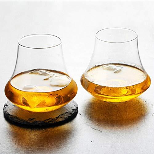 Tulip Vaso de whisky de borde ancho Copita Vasos de nariz Whisky...