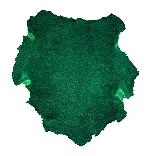 Glacier Wear Green Shearling Sheepskin Leather Hide Fur Pelt Skin (8 to 8.75 sq ft)