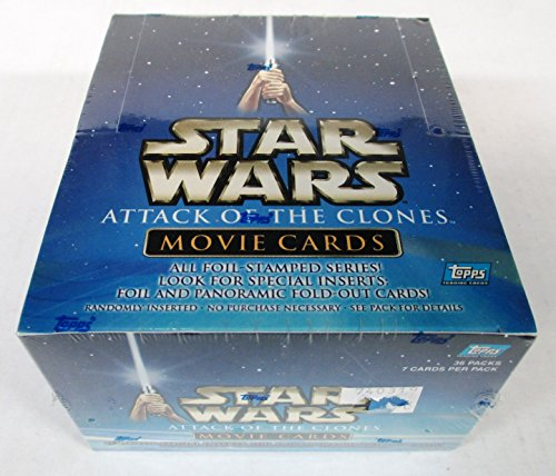 Star Wars Topps Attack of The Clones Trading Cards Box image