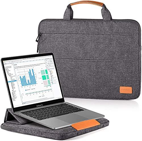 EasyAcc Laptoptasche 13-13,3 Zoll mit Klappständer Funktion Laptophülle Kompatibel 13 Zoll MacBook,Surface Pro X/7/6/5/4/12.9 iPad Pro Laptop4/3 Surface Book,Thinkpad,MateBook D14,Notebook 9Pro,XPS 13