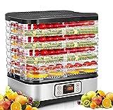 COOCHEER Essiccatore frutta e verdura,Timer di 72 ore,400 W,8 pallet,Essiccatore Alimentare,Temperatura regolabile