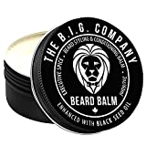 The B.I.G. Company - Luxury Beard Balm for Men - Beard Conditioner Masterfully Balanced with Beeswax & Oil for Non Greasy, Shine Enhancing Formula- Infusion of Black Seed Oil to Support Beard Growth