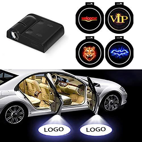 4 Auto-Projektor-Tür-Lichter, Auto Zu Öffnen Tür Signallampe, HD-Logo-Symbol LED Willkommen Schatten-Licht-Innenbeleuchtung,Fortata