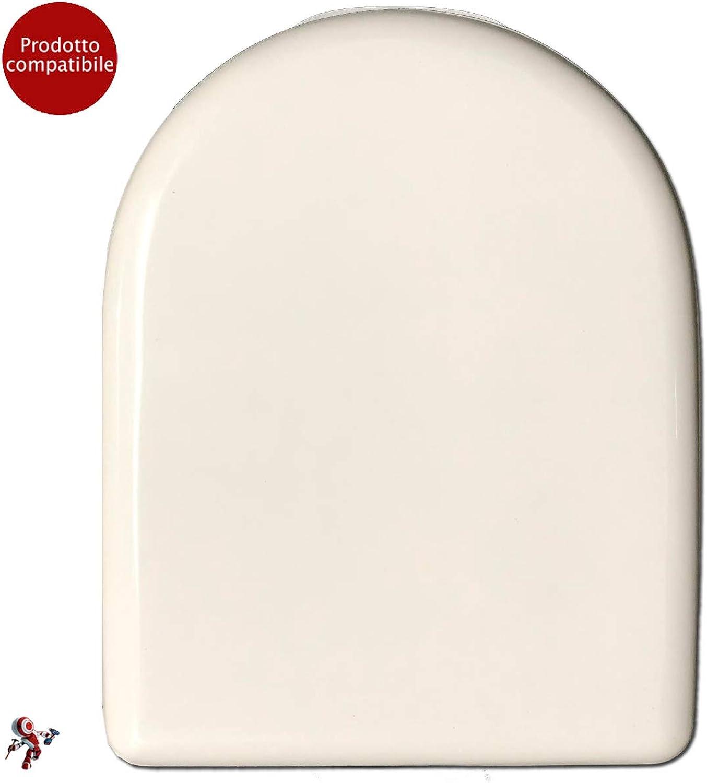 Toilet Seat Cover for Dolomite Alpine Square Vase White