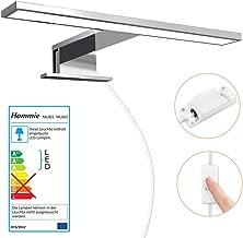 Apliques Espejo Baño LED Impermeable IP44, Hommie 30cm con Interruptor Cableado y Inalámbrico, Luz Espejo Baño 4000K 350LM Blanco Neutro, para Baño, Armario, Pared?Lámpara de Espejo Baño 300*103*40mm