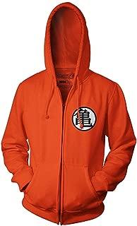 Hoodie Top Coat Anime Cosplay Goku Kame Symbol Cosplay Zip Hoodie Costume