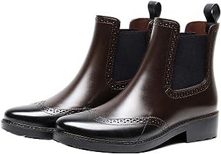 ZOSYNS Dameslaarzen, modieus, waterdicht, rubberen laarzen, antislip, regenlaarzen, Chelsea laarzen, outdoor schoenen, maa...