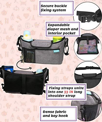Fabric Useful Universal Storage Bag Cup Food Holder Pouch Stroller Organizer
