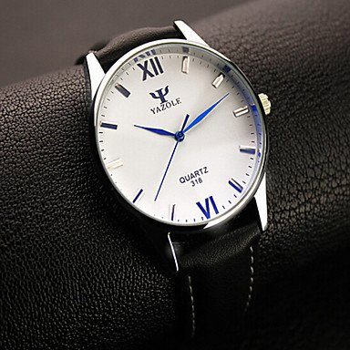 XKC-watches Orologi da Uomo, Yazole Uomini Orologi Moda Rotonda Orologi da Uomo digitali Romano di Quarzo Orologio Vestito dal Regalo Idea analogico (Colore : Black/White)