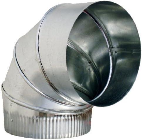 8 Inch 90-Degree HVAC Elbow Brand Cheap Sale Venue Duct Adjustabl Super sale 26 Galvanized Gauge -