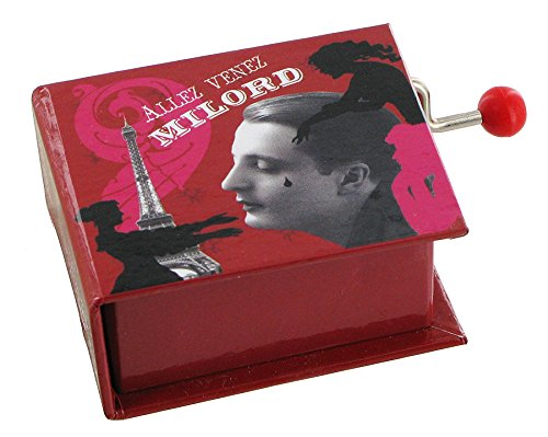 Boîte à musique à manivelle en forme de livre - Milord (Edith Piaf)