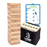 Giant Tumbling Timber Tower Game (Stacking from 2 to 4 Feet), WOOD CITY Classic Jumbo Outd...