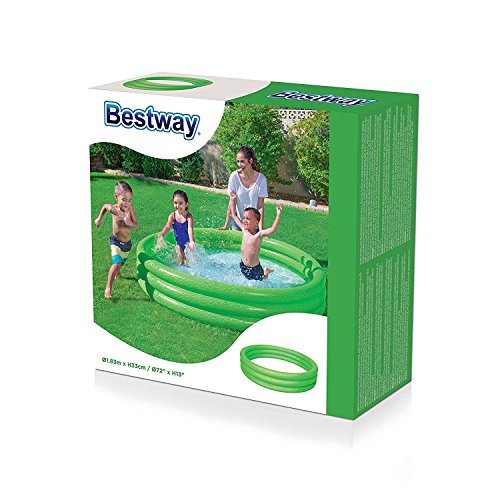 BESTWAY - Piscina inflable de 3 anillos para jardín (182 x 33 cm), Verde #51027