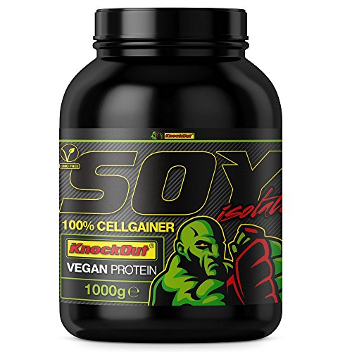 100% SojaCG - Soja CellGainer - vegetarisches Proteinpulver, Laktose, knock-out Ernährung - 1kg Schokolade