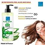 100% Naturel Gel de Aloe Vera Hydratant Visage Corps Cheveux Après l'épilation Soins des peaux déshydratées Feu du rasage Brulure après un bain de soleil Flacon Pompe 200 ml #3