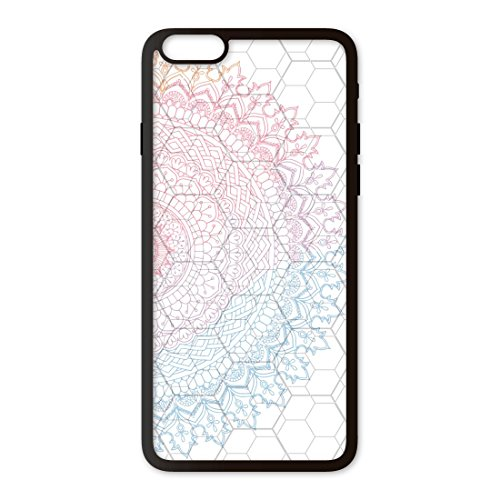 PHONECASES3D Funda móvil Compatible con iPhone 6 Plus Mandala Círculo. Carcasa de TPUde Alta protección. Funda Antideslizante, Anti choques y caídas.