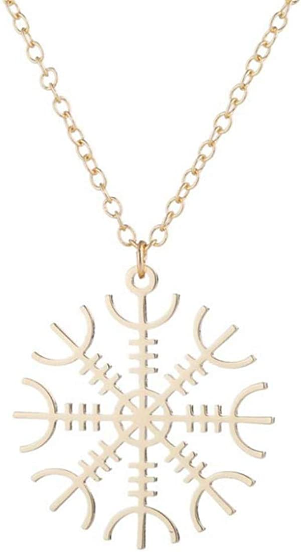 FdddZZ Gold Snowflake Necklaces Pendants for Women Chain Necklaces Collar
