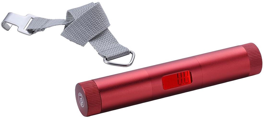 MAQUINO ラゲッジチェッカーバイブ メタリックレッド (手荷物の重さを量る+バイブレーション機能) 074397