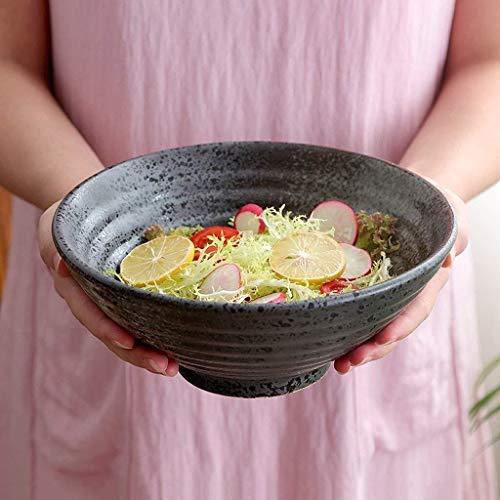 LYQZ Style Japonais Creative personnalité Vintage saladier en céramique Profondeur de Bol de Soupe Ramen Protection de l'environnement (Size : 8 inches)