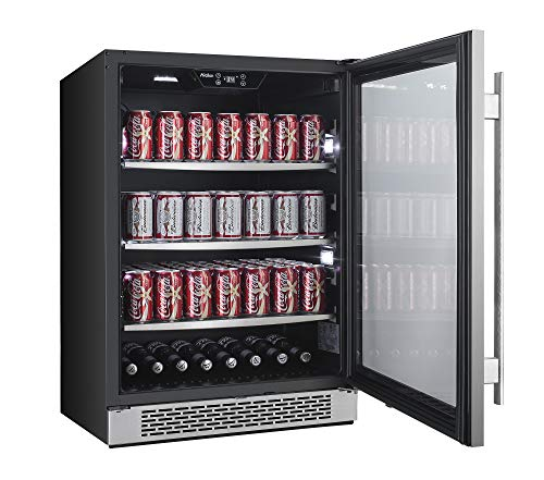 """Avallon ABR241SGRH 140 Can 24"""" Built-In Beverage Cooler - Right Hinge"""