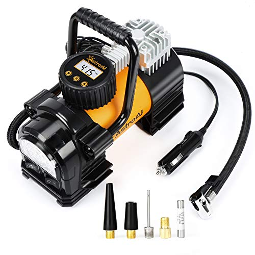 AstroAI Air Compressor Tire Inflator Portable Air Pump for Car Tires 12V DC Digital Tire Pump 150PSI with Emergency LED Light for Cars, Trucks, Motorcycles and Other Inflatables