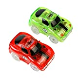 2 LED Race Cars Spielzeug Glow in The Dark für Kinder 3 4 5 6 7 8 , MEHRWEG (2 Autos)