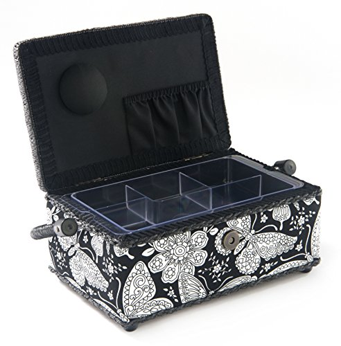 Why Choose Saint Jane St Jane Sewing Basket Sm Rectangle Black & White Rectan