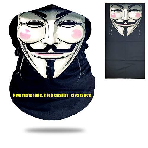 Feeke UV Face mask,3D Animal Face Sun Mask,Skull Mask Motorcycle Headwear