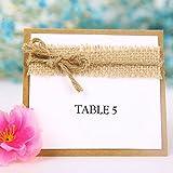OULII Namenskarte Platzkarte für Shabby Chic Hochzeit - 7