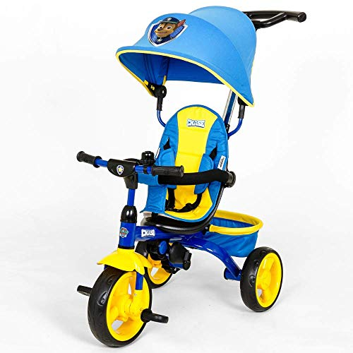 KidsEmbrace Paw Patrol Chase 4-in-1 Push and Ride Stroller Tricycle