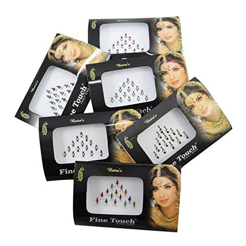 Banithani 6 Pièces Assorties Différents Paquets Pleins Multicolore De Bindi Nouvelle Tikka Autocollant Tatouages
