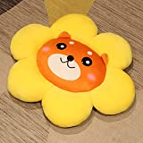 JSJJAKM Plüschtier Sonnenblume Wurfkissen Bodenkissen Stuhlkissen Sitzkissen Büro Sitzende Tatami Auto mit Hinterkissen (Farbe: Shiba Inu, Größe: 50 cm)
