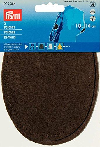 Prym 929384 Patches imitatie suède strijkijzer, 10 x 14 cm medium bruin, 14 x 10 cm, mittelbraun, 2 Stuk
