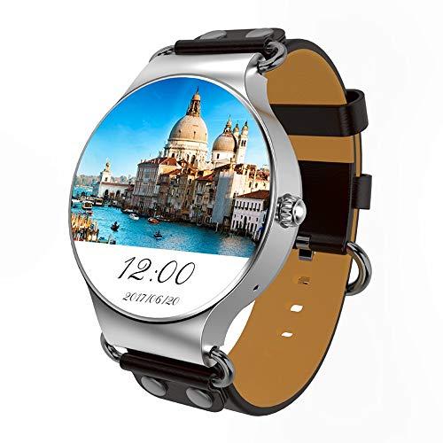 Outdoor-Smartwatch KW98 1,39 Zoll AMOLED-Display mit Bluetooth-Smart-Watch, Unterstützung für Schrittzähler/Echtzeit-Herzfrequenzmonitor/Push-Informationen/GPS-Navigation, Kompatibel mit Android