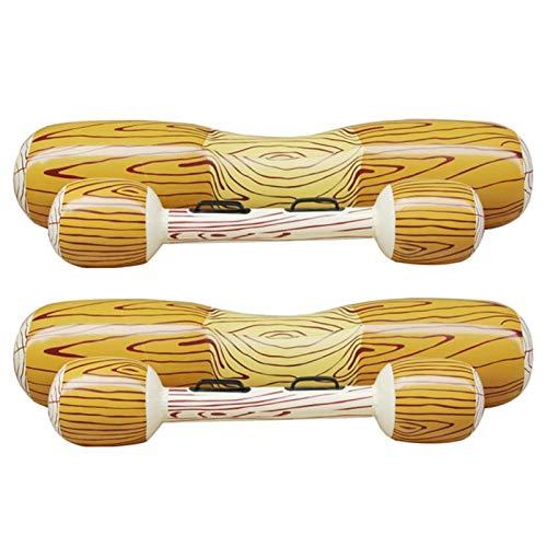 Juguete acuático, Material de PVC Respetuoso con el Medio Ambiente Interesante Piscina Flotante Inflable Asas Dobles de Doble Cara Balsa de cojinete Fuerte para Que jueguen Personas Dobles