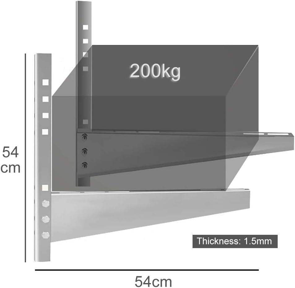 Staffa di Supporto del Condizionatore Daria per Impieghi Gravosi per Split Air Conditioner Sistemi a Pompa di Calore 10000//12000//14000 // 20000BTU Acciaio Inossidabile 304 Antiruggine