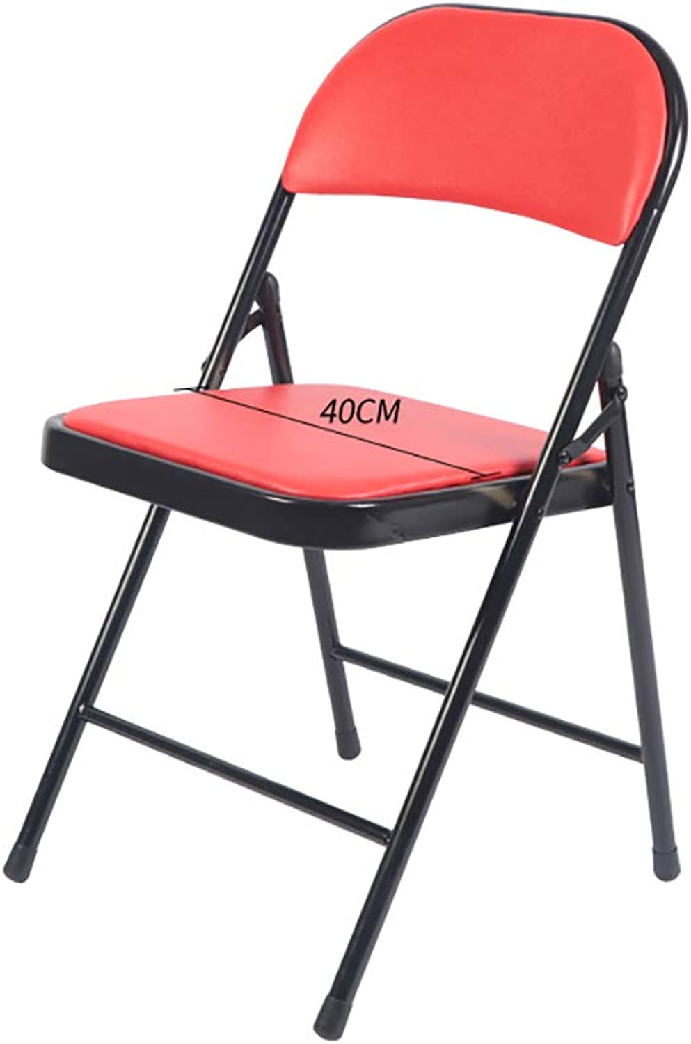 Folding Chair Home Leisure Chair Portable Meeting Training Computer Chair Back Chair Four colors. (color   B)