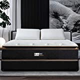 BedStory 12 Inch Hybrid Mattress Full XL, Black Luxury Gel Memory Foam & Individually Pocket Spring Mattress, Motion Isolation Mattress for Pressure Relief & Cool Sleep…
