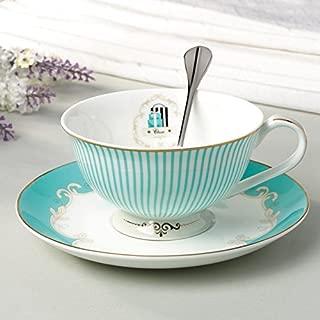 ENJOHOS Royal Vintage Decorative China Porcelain Coffee Mug Set/Tea Cup Set/Tabletop Gift Ideas (1Cup+1Saucer+1Spoon))