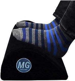 MG Home Office Foot Rest – Ergonomic, Teardrop Curve, Memory Foam, Velboa Fabric, Non-Slip Bottom, Black – Foot Rocker, Un...
