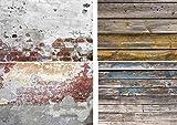 Lot de 2 toiles de fond double face pour photographie de produits, nourriture, blogger, cosmétiques, réseaux sociaux, boutiques en ligne