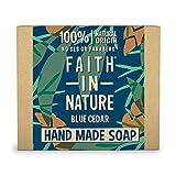 Faith in Nature Natürliche Blaue Zeder Handseife, Stimmungsaufhellende, Vegan & Ohne Tierversuche,...