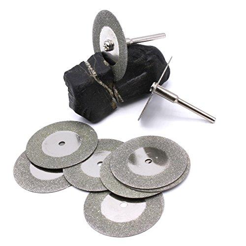 10 Stück Mini Diamant-Trennscheiben Ø 50mm 2 Aufspanndorn für Dremel Proxxon Mini Schleifgeräte